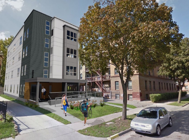 An illustration of the new 10-unit apartment development planned for 2008 Bryant Ave. S.