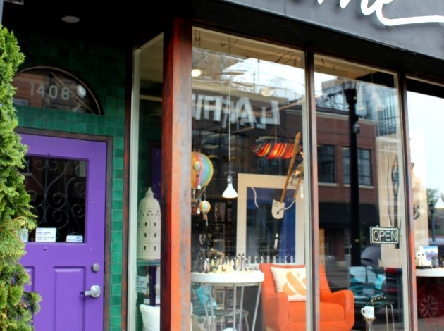 Go Home Furnishings' storefront at 1408 W. Lake St. held Prince's New Power Generation store in the early '90s.