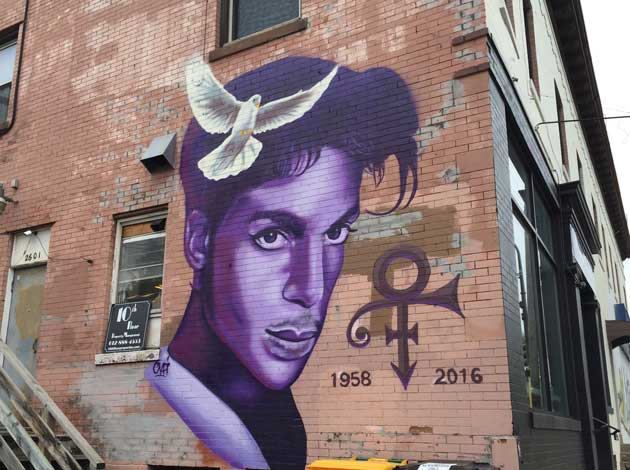 A new Prince mural in Uptown near 26th & Hennepin. Photo by Sarah McKenzie