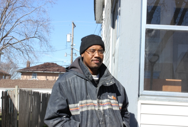 Minneapolis painter Dameon Jones said he's gone weeks without pay for his work. Photo by Michelle Bruch