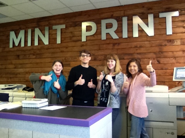 The Mint Print team (l to r): Josie Kallenbach, Jeremy Ney, Sophia Zdon and co-founder Betsy Chan. Submitted Photo