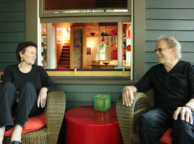 Kathryn and Daryl Hansen at their Thomas Avenue home, featured in the Linden Hills Little Homes Tour. Photo by Michelle Bruch