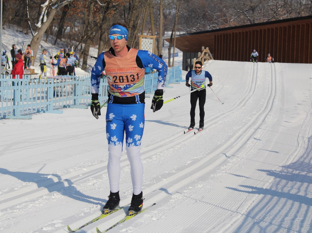 Keith Ailey nears the end of the Puoli Loppet classic race on Feb. 2 at Theodore Wirth Park. Photo by Nate Gotlieb