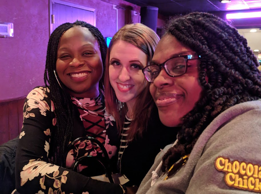 Crystal Lollie (left), a former karaoke host at the VFW, returned to celebrate the end of Two-Fisted Trivia with her friends Kaylie Falk (center) and Renae Totten. Submitted photo