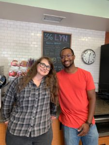 Store manager Brooke Babb and co-owner Lonnie McQuirter