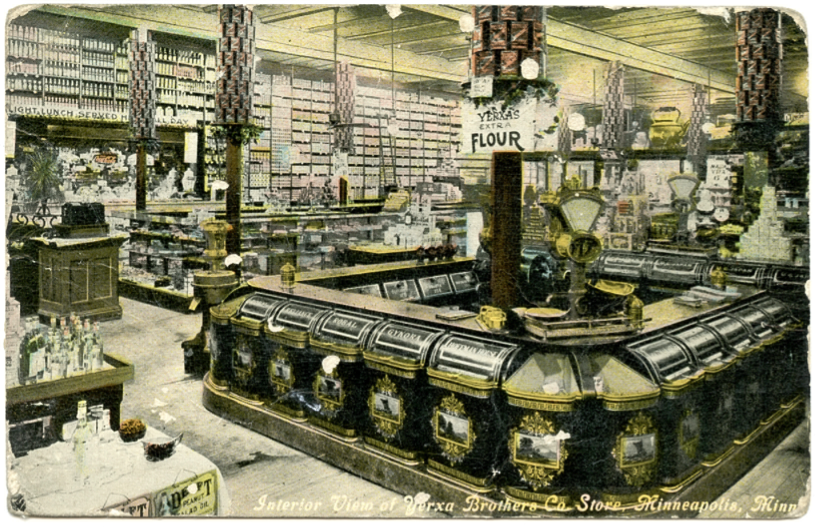 A postcard for the Yerxa grocery store